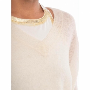 V-neck sweater Alpaca logo