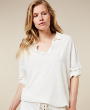 Polo shirt Linen logo