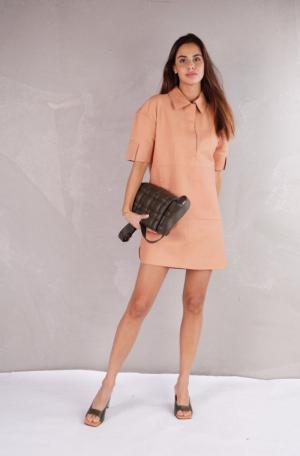 Leather Polo Dress logo